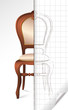 French chair sketch