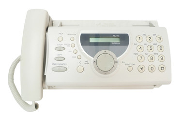Fax machine.