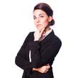 nachdenkliche Geschäftsfrau