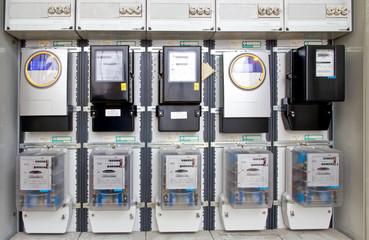 Zählerkasten in einem Mehrfamilienhaus