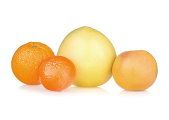 Fresh orange, tangerine, pomelo grapefruit