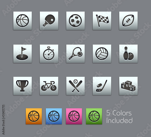 Sport Icons / Vector includes 5 Colors