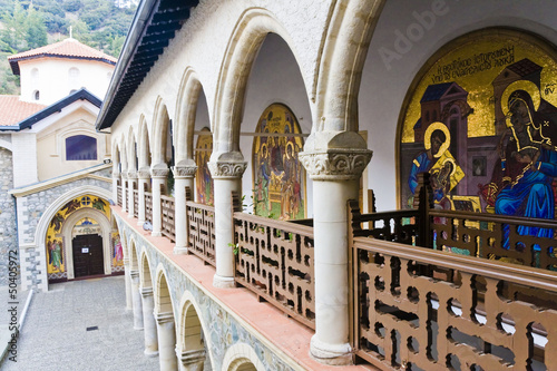 Monastery of the Virgin of Kykkos in Troodos mountains, Cyprus.