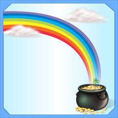 A rainbow and the pot of coins