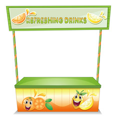 A stall for refreshing drinks