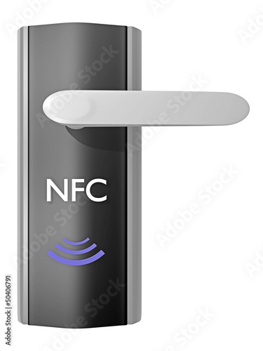 nfc_near field communication Türöffner - 3D