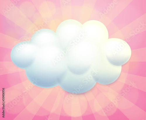 A blank signage in a cloud form