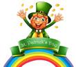 A man celebrating the day of St. Patrick