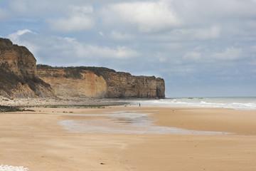Cliffs along the coastline of Normandy, France