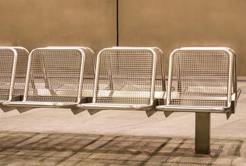 Metal Seats at Subway Station