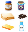 Different foods with vitamins and minerals