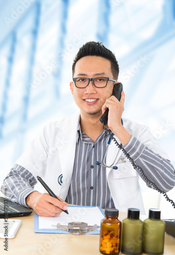 Young Southeast Asian medical doctor