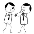 businessman fight