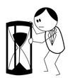 businessman sand clock