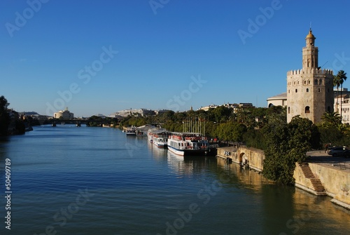 River & Torre del Oro, Seville, Spain © Arena Photo UK