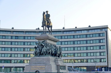 Statue renovated of Tsar Alexander II of Russia in Sofia