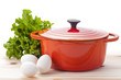 タマゴとレタスと鍋