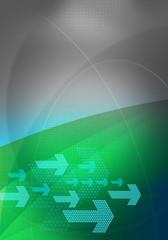 graphic backdrop green grey