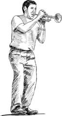 street trumpeter