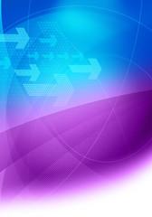 blue purple brochure graphics