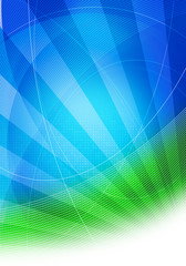 blue green lined graphic