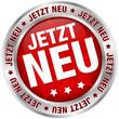 """Button """"Jetzt neu"""" rot/silber"""