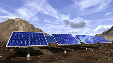 Animation of solar panels