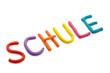 Schriftzug Schule aus Plastilin