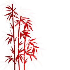 Bamboo Red Colors Shadow