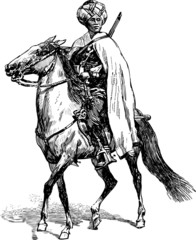 mercenary on a horse
