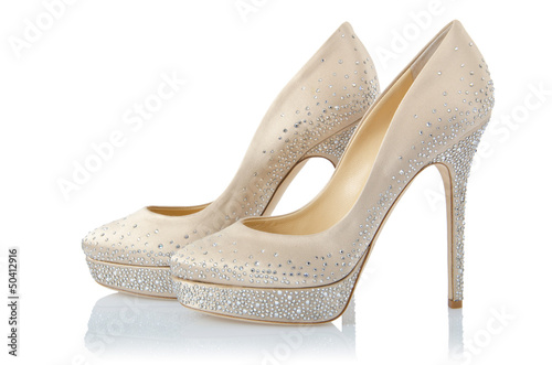 Nice woman shoes isolated on white