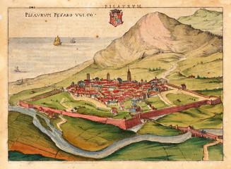 Italian city medieval map
