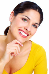 Beautiful smiling woman .