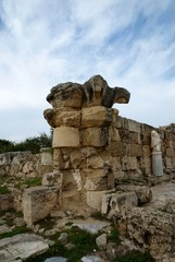 Ancient Ionian column in Salamis