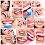 Beautiful woman smile collage. - 50414374