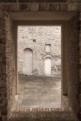 Foligno - Court of historic palace