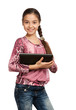 cute girl with a Digital Tablet