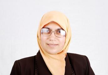 Smile arabic woman