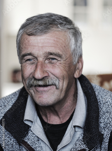 Very Nice Image of a Positive Old man with Mustache