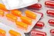 Verschiedene Tabletten, Kapseln, Pillen