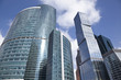 The construction of business center in Moscow. Russia
