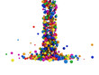 Abstract Illustration of Colorful Balls Falling