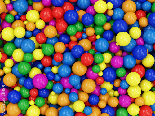 Heap of Colorful Balls Abstract Background