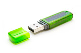 Usb flash drive on white