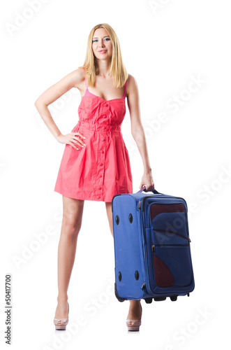 Attrative woman ready for summer vacation