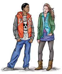 Teenage Boy and Girl