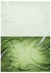 Schwungvoller Klee auf Leinwand, grünnuancen; double