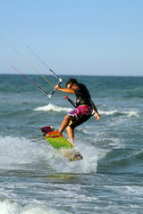 Kite surfing Cullera beach Spain