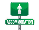 accommodation sign poster