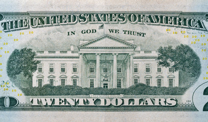 Back of twenty dollars bill